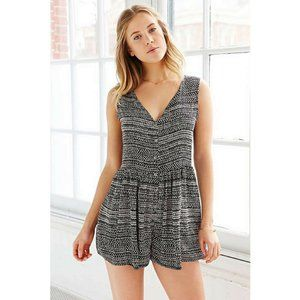 Urban Outfitters Printed Drapey Carlin Romper